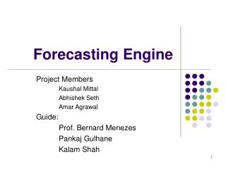 Forecasting Engine