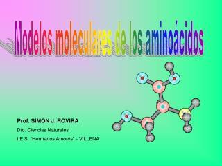 Modelos moleculares de los aminoácidos
