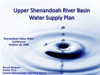 Upper Shenandoah River Basin Water Supply Plan
