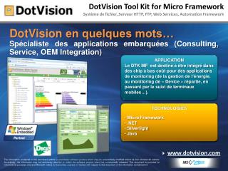 DotVision Tool Kit for Micro Framework