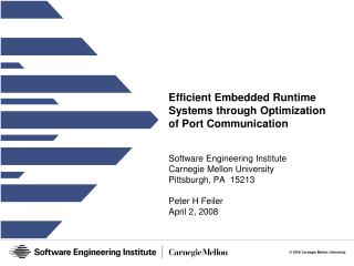 Efficient Embedded Runtime Systems through Optimization of Port Communication