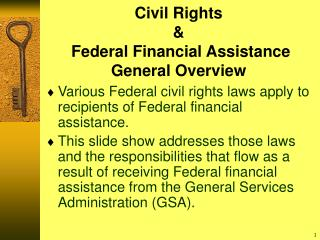 Civil Rights   Federal Financial Assistance General Overview