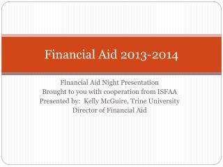 Financial Aid 2013-2014