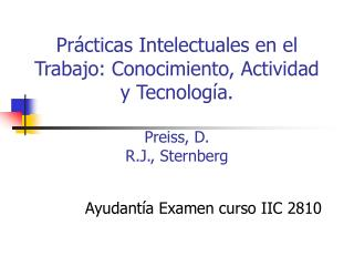 Ayudantía Examen curso IIC 2810