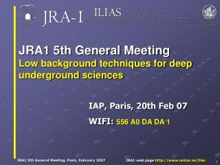 IAP, Paris, 20th Feb 07 WIFI:  556 A0 DA DA 1
