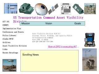 US Transportation Command Asset Visibility Division