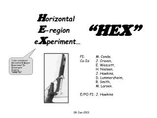 H orizontal E -region e X periment…