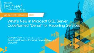 What s New in Microsoft SQL Server CodeNamed  Denali  for Reporting Services