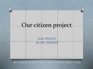 Our  citizen project