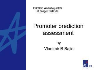 Promoter prediction assessment