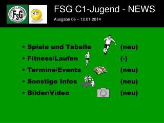 FSG C1-Jugend - NEWS Ausgabe 06 � 12.01.2014