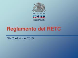 Reglamento del RETC