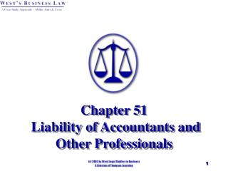 Chapter 51  Liability of Accountants and Other Professionals
