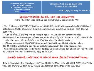 BS.CK.1 TRƯƠNG THỊ XUÂN LIỄU 1. Chủ  tịch Hội Y học TP Hồ Chí Minh khóa VIII,