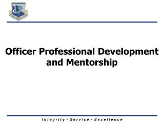Officer Professional Development and Mentorship