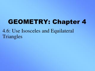 GEOMETRY: Chapter 4