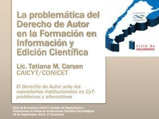 Formación en Información y Edición Científica y Tecnológica