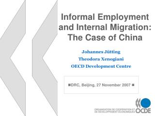 Informal Employment  and Internal Migration: The Case of China