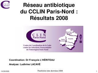 Réseau antibiotique  du CCLIN Paris-Nord:  Résultats 2008