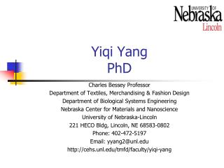 Yiqi Yang PhD