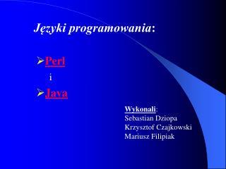 Języki programowania :