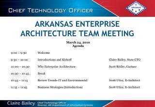ARKANSAS ENTERPRISE ARCHITECTURE TEAM MEETING