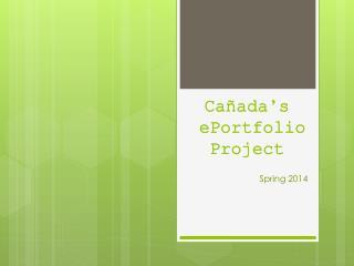 Cañada's e Portfolio Project