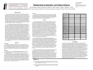 Relationship Acceleration and Dating Violence
