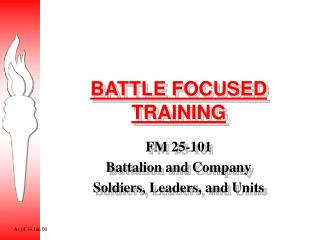 BATTLE FOCUSED TRAINING