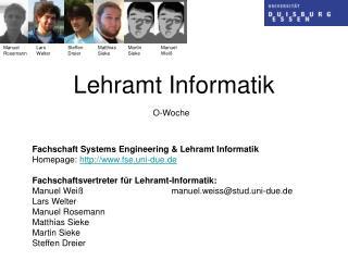 Lehramt Informatik