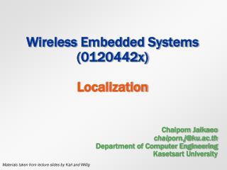Wireless Embedded Systems (0120442x)  Localization