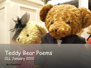 Teddy Bear Poems