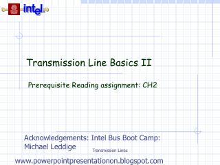 Transmission Line Basics II