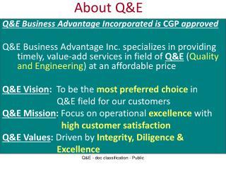 About Q&E