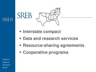 Interstate compact Data and research services Resource-sharing agreements Cooperative programs