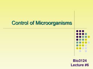 Bio3124 Lecture #6
