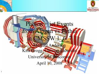 Photon + jet Events  from Alpgen vs Pythia  in CMSSW 1_6_7