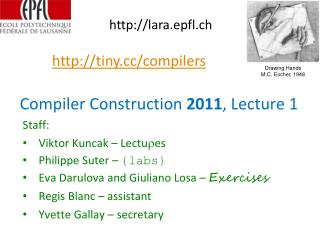 Compiler Construction  2011 , Lecture 1