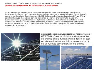 GENERACI�N DE ENERG�A CON SISTEMAS FOTOVOLTAICOS