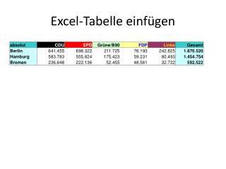 Excel-Tabelle einfügen