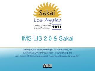 IMS LIS 2.0 & Sakai
