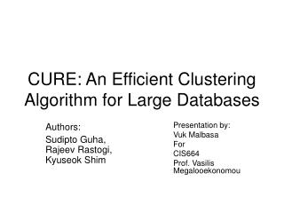 CURE: An Efficient Clustering Algorithm for Large Databases
