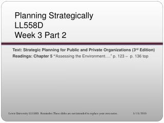 Planning Strategically LL558D Week 3 Part 2