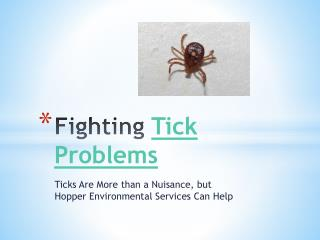 Fighting Tick Problems - Ticks Are More than a Nuisance, but