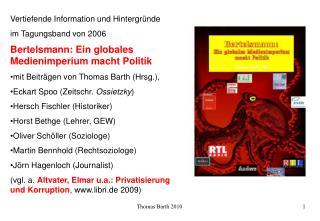 Vertiefende Information und Hintergründe  im Tagungsband von 2006