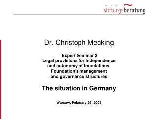 Dr. Christoph Mecking