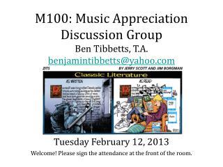 Tuesday February 12, 2013