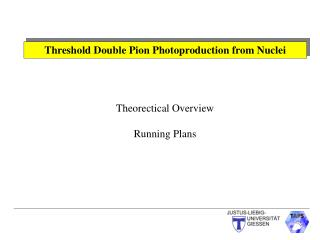 Threshold Double Pion Photoproduction from Nuclei