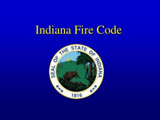 Indiana Fire Code