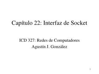Capítulo 22: Interfaz de Socket
